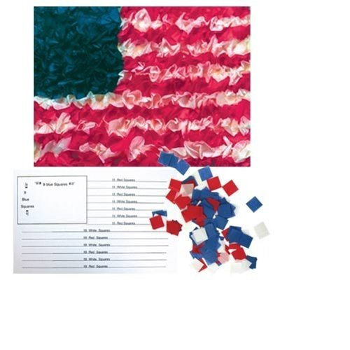 Hygloss American Flag Craft Tissue Paper Kit - DIY US Flag Decorations - 5.5' x 8.5' Inches - 10 Sets