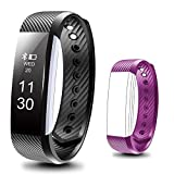 BEARTWO Fitness Tracker, Smart Bracelet IP67 Waterproof Bluetooth Smart Remote Self-Timer Smart Watch Activity Tracker Calorie Counter Wireless Sport Sleep Monitor For Android iOS Phone