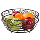 iDesign Twigz Wire Fruit Bowl Centerpiece for Kitchen and Dining Room Countertops, Tables, Buffets, Refrigerators, Bronze