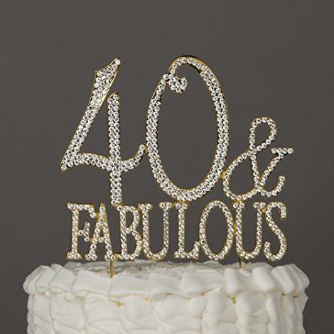 Decorazione per torte 40 & Fabulous colore oro