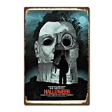 NNHG Tin Sign 8x12 inches Halloween 1978 Horror Film Movie Poster Vintage Retro Tin Sign