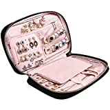 "MoMA Travel Jewelry Organizer - 9.8""L x 6.1""W x 1.9""H Jewelry Case - Jewelry Storage Box for Necklace, Earrings, Rings, Bracelets - Women Quilted Jewelry Box Organizer - Girl Portable Jewelry Case"