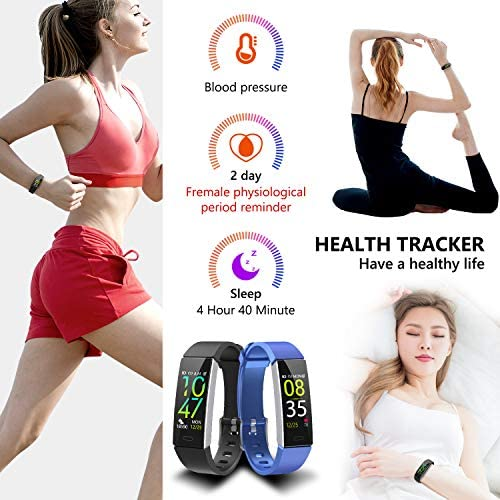 Mgaolo Fitness Tracker,2020 Version IP68 Waterproof Activity Tracker with Blood Pressure Heart Rate Sleep Monitor,10 Sport Modes Health Fit Smart Watch with Pedometer for Men Women 6