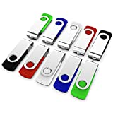 KEXIN 10 Pack Flash Drives 32 GB USB Thumb Drives Jump Drives USB Flash Drives Memory Sticks Zip Drives USB 2.0, 5 Colors (Black, Blue, Green, White, Red)