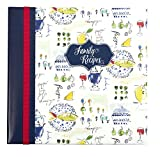 C.R. Gibson French Family Recipes Book With Tabbed Dividers and Sheet Protectors, 9.5'' W x 9.5'' H