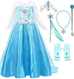 Snow Queen Elsa Princess Party Dress Costume with Accessories (3-4, Style 2)