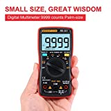Digital Multimeter 9999 counts Palm-size True-RMS Multimeter Backlight AC DC Voltage Ammeter Current Ohm Auto/Manual
