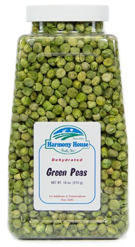 Harmony House Foods, Dried Peas, Whole, 18 Ounce Quart Size Jar