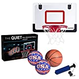 Iserlohn Mini Basketball Hoop, Over The Door Use - Include 2 Quiet Shooting Ball and a Pro-Mini Basketball, Air Pump, Design for Home or Office (18 inch12 inch)