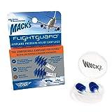 Mack's Flightguard Airplane Pressure Relief Earplugs – 26dB NRR – Comfortable, Safe, Travel Ear Plugs