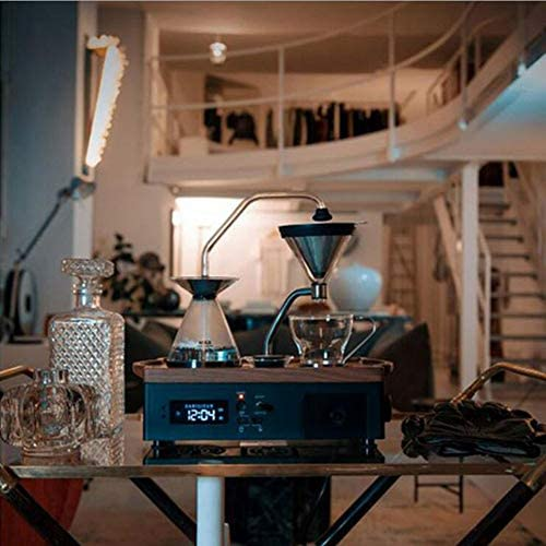DGYAXIN Bedside Alarm Clock Automatic Coffee Machine - an Alarm Clock That Can Make Coffee and Wake You Up