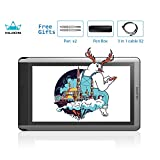 HUION KAMVAS GT-156HD V2 Drawing Monitor, 15.6inch Graphics Drawing Tablet with HD Screen, 8192 Levels Pressure Sensitivity, Touch Bar and 14 Express Keys