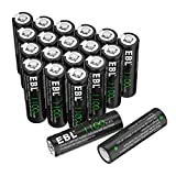 EBL 1100mAh Solar Light AA Ni-CD Rechargeable Batteries (Pack of 20)