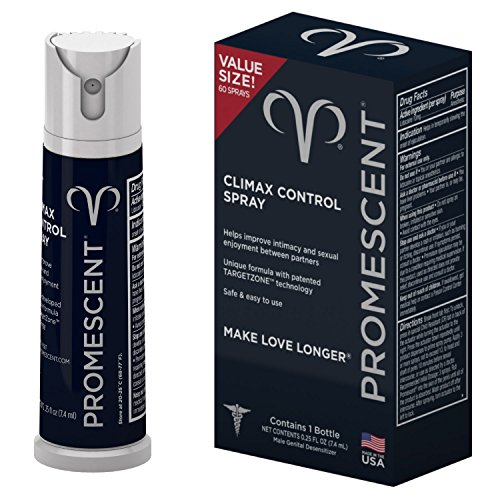 Promescent Desensitizing Delay Spray for Men Clinically Proven to Help You Last Longer in Bed - Better Maximized Sensation + Prolonged Climax For Him,7.4ml