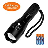 outlite A100 Portable 2000 Lumens Handheld LED Flashlight with Adjustable Focus and 5 Light Modes, Outdoor Water Resistant Flashlights High Lumens, Tactical Flashlight for Camping Hiking Emergency
