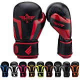 Elite Sports Boxing, Kickboxing, Adult & Kids Muay Thai Gel Sparring Training Gloves