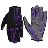 Bunkerkings Featherlite Fly Second Skin Multi-Sport Paintball Gloves with Smartphone Friendly Fingertips - Purple (LG/XL)