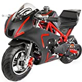 XtremepowerUS 40CC 4-Stroke Gas Power Mini Pocket Motorcycle Ride-on (Red)
