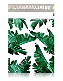 Pack It Chic - 10' X 13' (100 Pack) Tropical Leaves Poly Mailer Envelope Plastic Custom Mailing & Shipping Bags - Self Seal (More Designs Available)