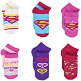 Supergirl Girls Multi pack Socks (2T-4T (Shoe: 4-7), Supergirl Pink 6 pk)