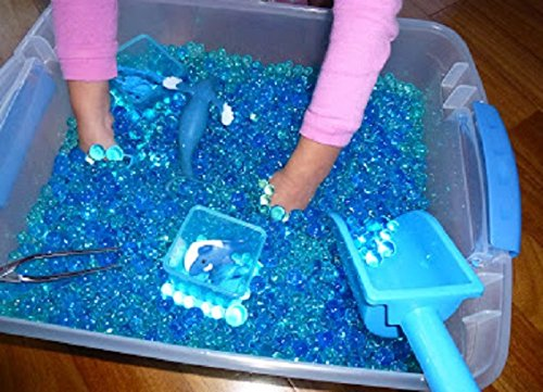 JellyBeadZ Brand - Kids Tactile Sensory Experience - 3 Color-Blue-Water Bead Gel 3 - 10 Gram Packs. BeadZ Only