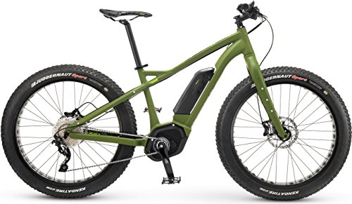 "IZIP E3 Sumo 26"" Fat Tire Electric Mountain Bike with 250W Bosch CX Mid-Motor and 36V, 400Wh Lithium Battery, 2017 Model, Army Green, 17""/Medium"