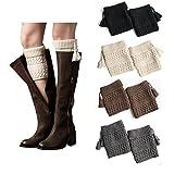 Product review of Bestjybt Womens Short Boots Socks Crochet Knitted Boot Cuffs Leg Warmers Socks