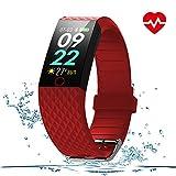 WOSPORTS Fitness Tracker HR– Color Smart Watch – Heart Rate Fitness Tracker – Waterproof Fitness Watch – Fit Watch Tracker Pedometer for Men, Women, Kids – Activity Tracker