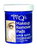 Andrea Eye Q's Ultra Quick Eye Makeup Remover Pads, 65-Count (Pack of 6)