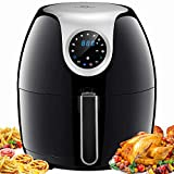 Tidylife 6.3 QT Air Fryer, 1700W 8 in 1 One-Touch Cooking Oilless XL Air+Fryer, 0-60 Mins Timer, 180-400 ℉ Fast Cooking, Dishwasher Safe, Auto Shut Off (Over 50 receipes) (6.3QT)