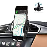abaolux Air Vent Phone Holder Car Mount with Quick Easy Release Button and 360 Degree Rotation Cradle for IPhone, Samsung Galaxy and Most 1.9-3.7 Inches Smartphones (Black)