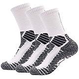 Deyuan Elite Basketball Socks, Cushioned Athletic Thick Crew Socks, Sports Performance Compression Socks for Men & Women