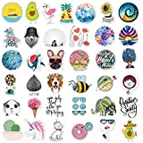 Cute Stickers(105Pcs),Laptop and Water Bottle Decal Hot Stamping Process Sticker Pack for Teens, Girls, Women Vinyl Stickers Waterproof