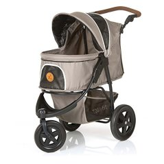 TOGfit-Pet-Roadster-Luxury-Pet-Stroller-for-Puppy-Senior-Dog-or-Cat-Easy-Foldable-Three-Wheels-Travel-Pet-Jogger-max-Loading-70-lb-Mattress-Included-Gray
