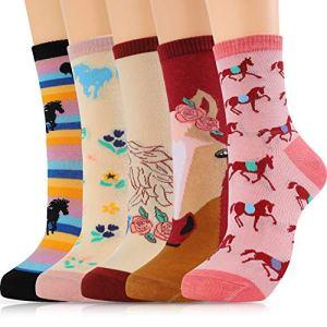 Moyel Socks Women, 5 Pairs of Funny Cute Socks Gifts for Women