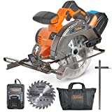 "VonHaus 20V MAX Cordless Circular Saw 6-1/2"" with Brake and 2x Saw Blades, 3.0Ah Lithium-Ion Battery and Charger Kit Included"