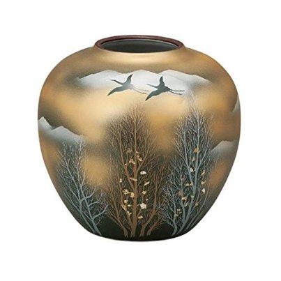 Kutani Yaki(ware) Vase Gold Clouds