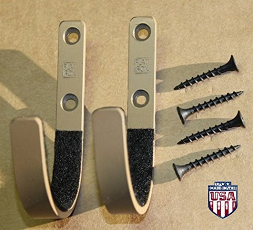 Creative Displays Flatiron Tan Colored Gun Rack Shotgun Hooks Rifle Hangers Sword Archery Bow Felt Lined Wall Mount Storage (Handmade in The U.S.A.)