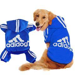Scheppend-Original-Adidog-Big-Dog-Large-Clothes-Sport-Hoodies-Sweatshirt-Pet-Winter-Coat-Retriever-Outfits-Blue-XXXX-Large