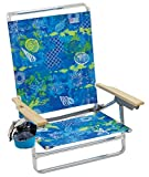 Margaritaville Outdoor Rio Gear Beach Classic 5-Position Lay-Flat Beach Chair - Baja Boho Shells, 30.8' x 24.75' x 29.5'