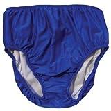 Adult Swim Diapers - Reusable Diaper for The Pool (S-Waist: 26-36'; Leg: 17-23', Blue)