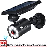Solar Lights Outdoor Motion Sensor, 1400-Lumen Bright LED Spotlight 9-Watt(130W Equiv.), Solar Security Lights for Garden Driveway Patio, 2-Year Battery Life, 160-Week 100% FREE Replacement Guarantee