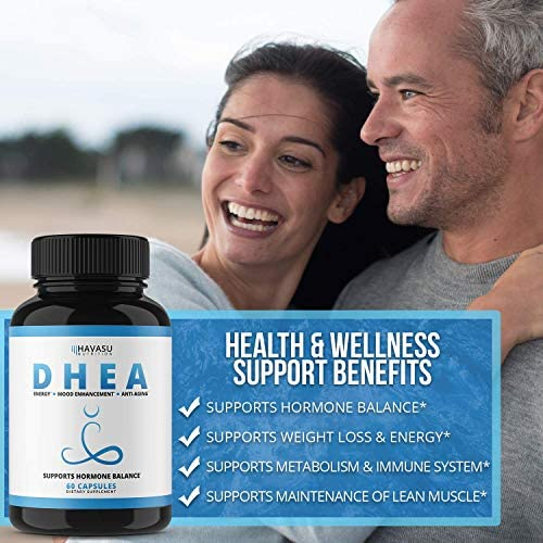 Havasu Nutrition DHEA 50mg Extra Strength Designed for Promoting Youthful Energy, Balance Hormone Levels & Supports Lean Muscle Mass, Non-GMO, Supplement for Men & Women, 60 Capsules 7