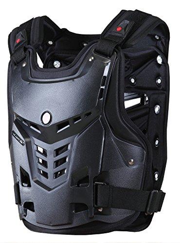 CRAZY AL'S SCOYCO AM05 Body Armor Professional Motorcycle Motocross Racing Protective Body Armour Armor Jacket Guard Motobike Bicycle Cycling Riding Motocross Gear (XL, Black)