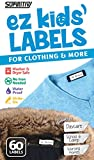 No-Iron Clothing Labels, Supiritiv All Purpose Ez Kids' and Adults' Labels, Stick-On, Write-On, Washer & Dryer Safe, 60 Labels (1)