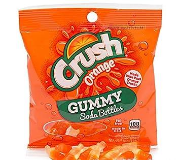 Orange Crush Gummy Soda Bottles 4.5-Ounce Candy Bag 1 Count