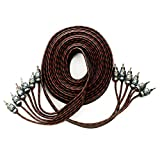 Alphasonik 17 Feet Premium 6 Channel Hyper-Flex RCA Interconnect Signal Patch Audio Cable with X-Radial Twist Wire Technology 100% Oxygen Free Copper Element Certified Multiple Applications FLEX-R66