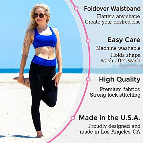 Fold over skinny yoga pants