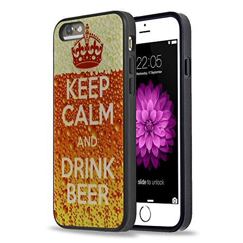iPhone 5S Case Apple 5/5s Black Cover TPU Rubber Gel - Keep Calm And Drink Beer