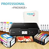 Edible Printer System-Comes with Edible Cartridges, Icing Sheets, Cleaning Cartridges, Refill Inks, Canon Edible Picture Printer for Cakes, Edible Bakery & Home Printer-Icinginks Professional Package
